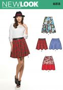 New Look Ladies Easy Sewing Pattern 6313 Simple Skirts in 4 Styles