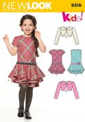 New Look Childrens Easy Sewing Pattern 6319 Dresses & Jacket