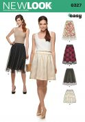 New Look Ladies Easy Sewing Pattern 6327 Skirts with Overlay