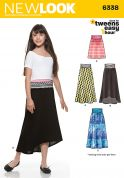 New Look Girls Easy Sewing Pattern 6338 Simple Skirts in 4 Styles
