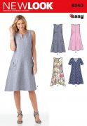 New Look Ladies Easy Sewing Pattern 6340 A Line Summer Dresses