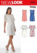 New Look Ladies Easy Sewing Pattern 6342 Simple Shift Dresses