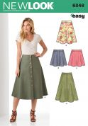 New Look Ladies Easy Sewing Pattern 6346 Simple Skirt in 4 Styles