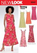 New Look Ladies Easy Sewing Pattern 6347 Dresses in 5 Variations