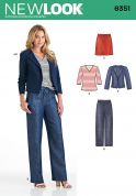New Look Ladies Sewing Pattern 6351 Tops, Skirt, Pants & Jacket