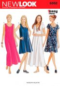 New Look Ladies Easy Sewing Pattern 6352 Dresses in 4 Variations