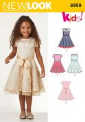 New Look Girls Sewing Pattern 6359 Fit & Flare Dresses