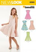 New Look Girls Sewing Pattern 6360 Fit & Flare Panelled Dresses