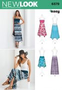 New Look Ladies Easy Sewing Pattern 6379 Summer Dress, Skirts & Trousers