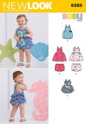 New Look Baby Sewing Pattern 6385 Dresses, Dungarees & Shorts