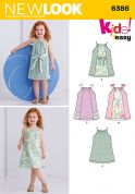 New Look Girls Easy Sewing Pattern 6386 Shoulder Tie Summer Dresses