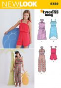New Look Girls Easy Sewing Pattern 6389 Summer Jumpsuits & Dresses