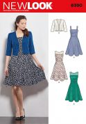 New Look Ladies Sewing Pattern 6390 Jacket & Dresses