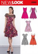 New Look Ladies Sewing Pattern 6392 Dresses in 5 Styles