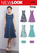 New Look Ladies Sewing Pattern 6393 Dresses & Clutch Bags