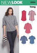 New Look Ladies Sewing Pattern 6394 Shirts & Blouses