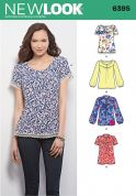 New Look Ladies Sewing Pattern 6395 Blouse Tops