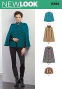 New Look Ladies Sewing Pattern 6396 Cape Coats