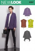 New Look Ladies Sewing Pattern 6397 Slouchy Jackets in 4 Styles