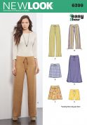 New Look Ladies Easy Sewing Pattern 6399 Pants, Skirts & Shorts
