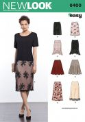 New Look Ladies Easy Sewing Pattern 6400 Skirts in 5 Styles