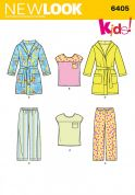 New Look Childrens Easy Sewing Pattern 6405 Pyjamas & Dressing Gown