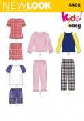 New Look Childrens Easy Sewing Pattern 6406 Pyjamas