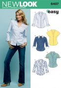 New Look Ladies Sewing Pattern 6407 Shirts & Blouses
