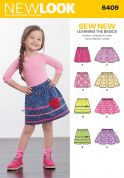 New Look Girls Easy Learn to Sew Sewing Pattern 6409 Skirts in 4 Styles