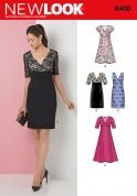 New Look Ladies Sewing Pattern 6410 Evening Dresses in 4 Styles