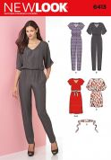 New Look Ladies Sewing Pattern 6413 Jumpsuits, Dresses & Belt