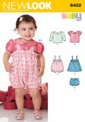 New Look Baby Sewing Pattern 6422 Romper, Tops & Panties