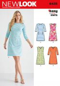 New Look Ladies Easy Sewing Pattern 6428 Just for Knits Dresses