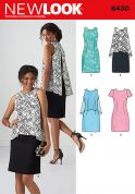 New Look Ladies Sewing Pattern 6430 Dresses in 4 Styles with Overlay