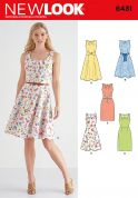 New Look Ladies Sewing Pattern 6431 Dresses in 5 Styles with Pleat Neckline