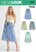 New Look Ladies Easy Sewing Pattern 6437 Skirts in 4 Styles