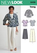 New Look Ladies Easy Sewing Pattern 6438 Tops, Kimono & Trouser Pants
