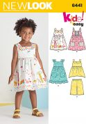 New Look Toddlers Easy Sewing Pattern 6441 Dresses, Top & Cropped Pants