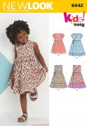 New Look Girls Easy Sewing Pattern 6442 Wrap Dresses