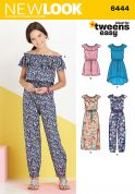 New Look Girls Easy Sewing Pattern 6444 Romper, Jumpsuits & Dresses