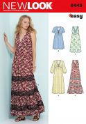 New Look Ladies Easy Sewing Pattern 6448 Easy V Neck Dresses