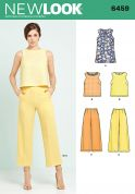 New Look Ladies Sewing Pattern 6459 Tunic or Top & Cropped Pants