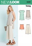 New Look Ladies Easy Sewing Pattern 6461 Dress, Tunic, Top & Cropped Pants