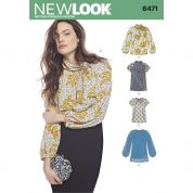 New Look Ladies Sewing Pattern 6471 Blouses & Tunic Tops