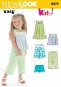 New Look Childrens Easy Sewing Pattern 6473 Dresses, Tops, Shorts & Pants