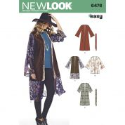 New Look Ladies Easy Sewing Pattern 6476 Kimono Tops with Length & Sleeve Variations