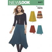 New Look Ladies Sewing Pattern 6477 Jersey Knit Skirts in Varying Lengths