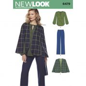 New Look Ladies Sewing Pattern 6479 Tunic Top, Pants & Cape
