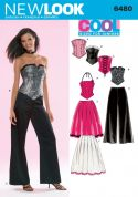New Look Childrens Sewing Pattern 6480 Corset Tops, Skirt & Pants