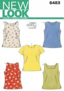 New Look Ladies Easy Sewing Pattern 6483 Simple Tops